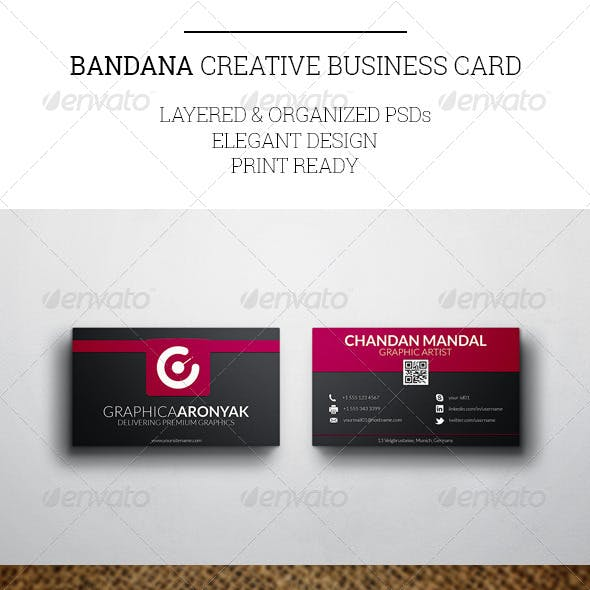 bandana stationery and design templates from graphicriver