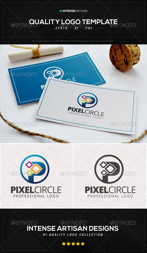 pixel circle logo template by intenseartisan graphicriver