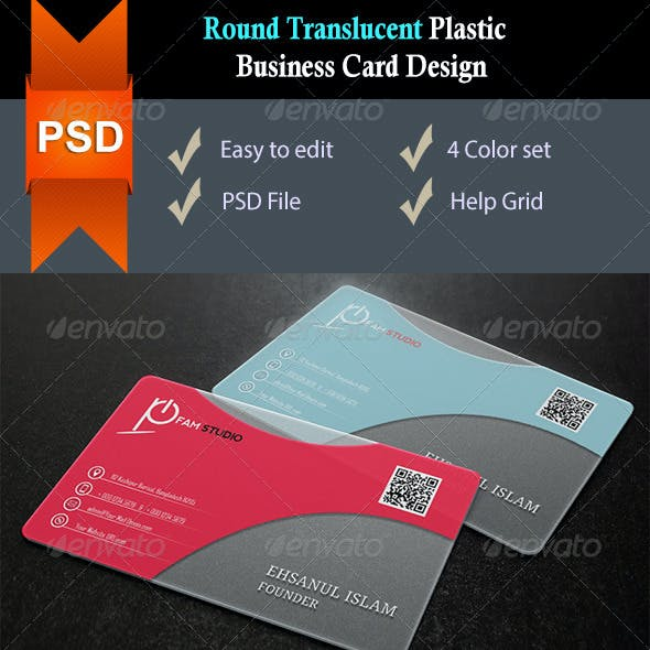Plastic business card graphics designs templates round corners translucent plastic business card v2 reheart Image collections