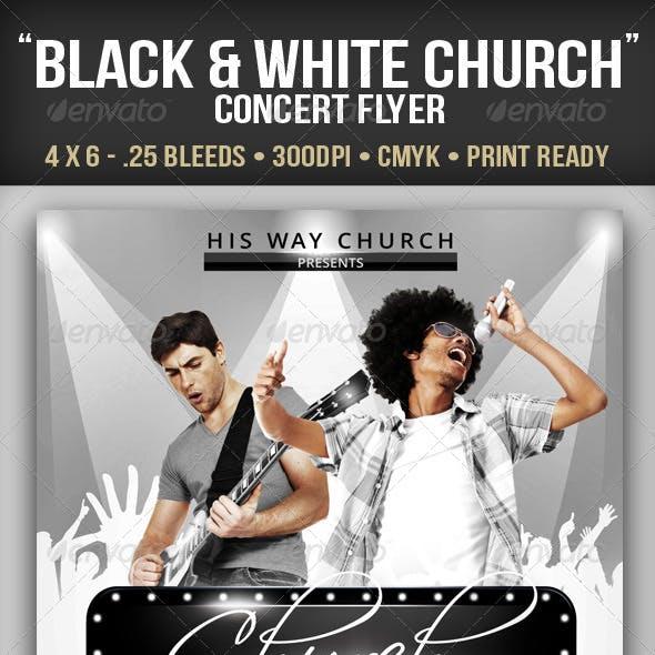 Black White Church Concert Flyer