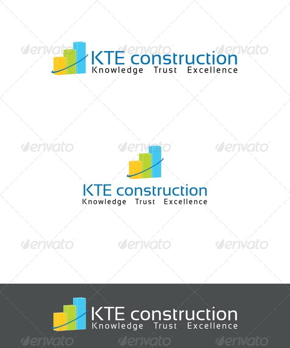 kte construction logo template by mia3d graphicriver