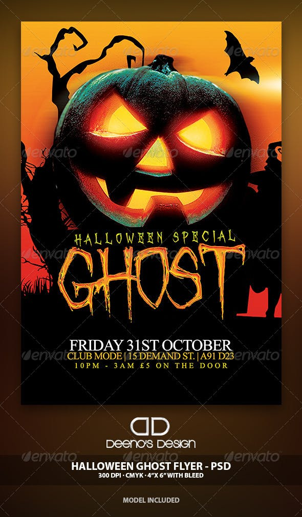 Halloween Ghost Flyer Template Psd By Deenosdesigns Graphicriver