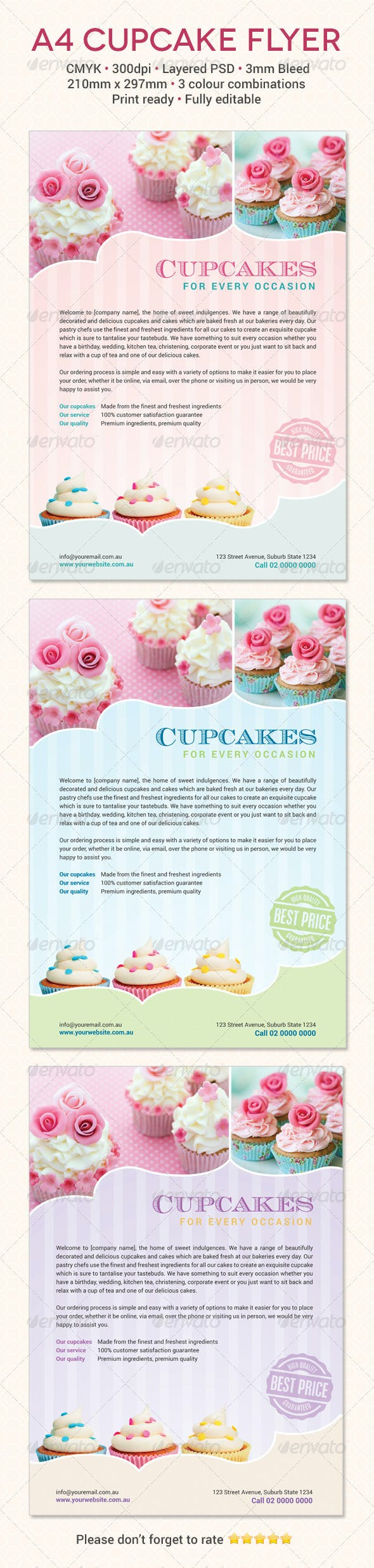cupcake flyer template by meemeedesign graphicriver