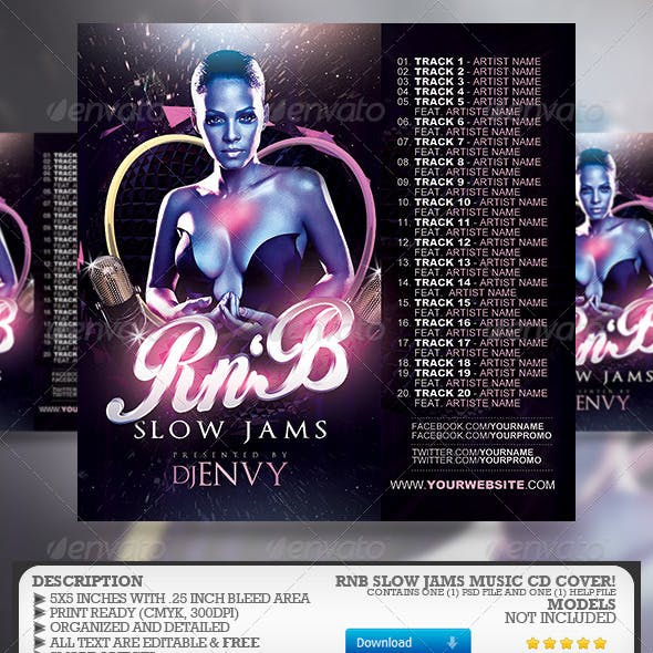 RnB Music CD Cover by RomacMedia | GraphicRiver