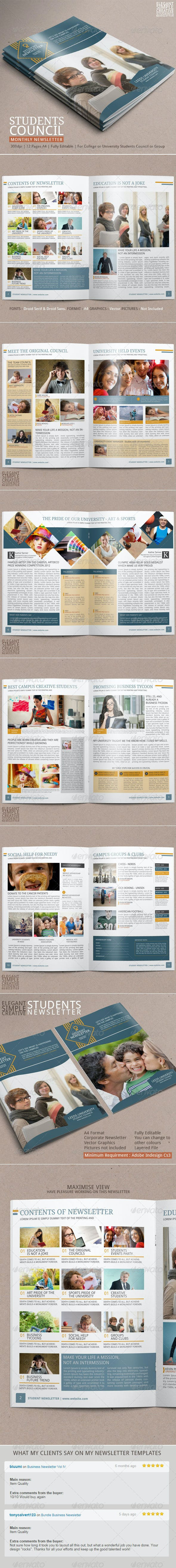 student newsletter template vol 2 by blogankids graphicriver