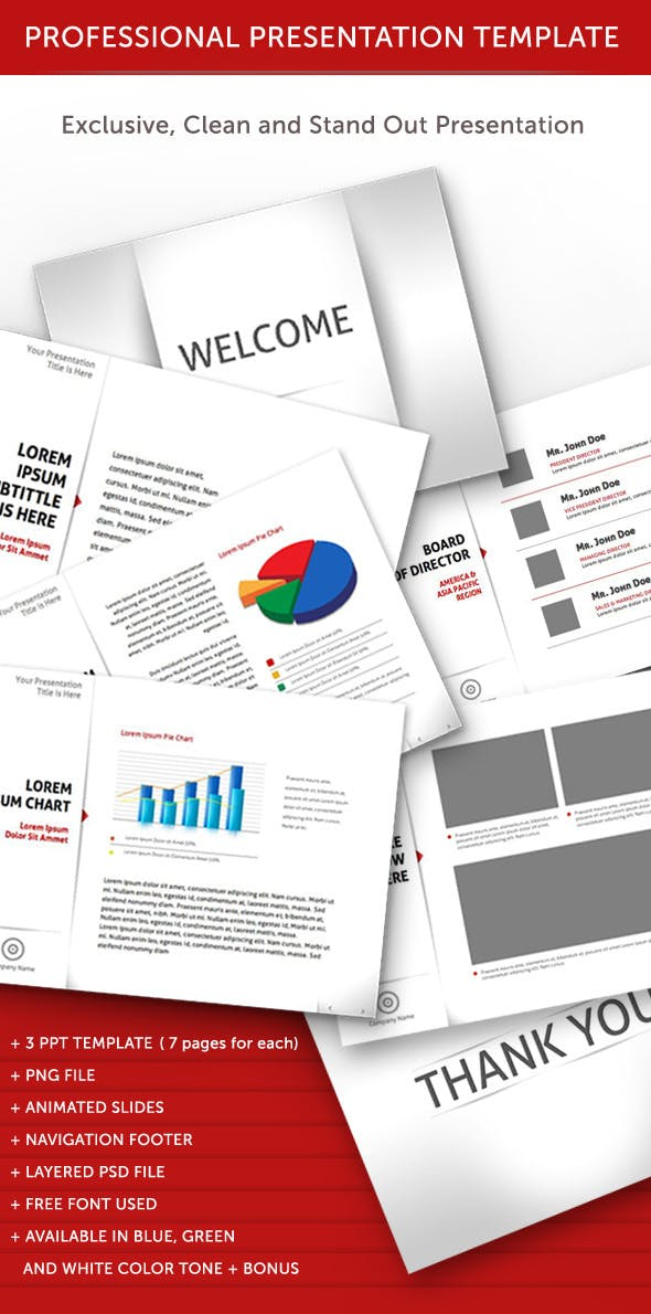 professional animated power point template by hamvec graphicriver
