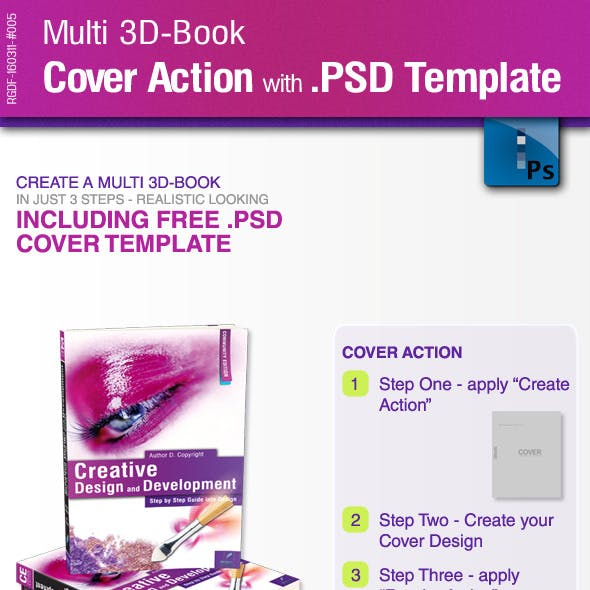 multi 3d book cover action with psd template by ricci gdf