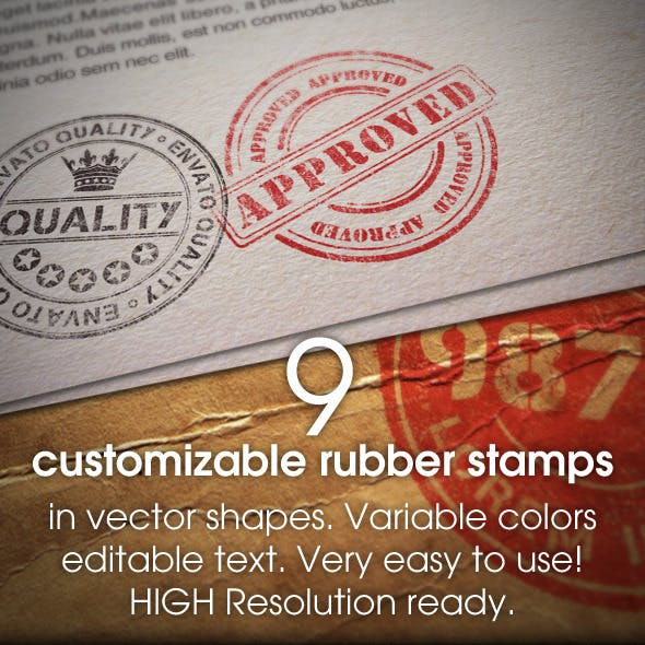 rubber stamp graphics designs templates from graphicriver