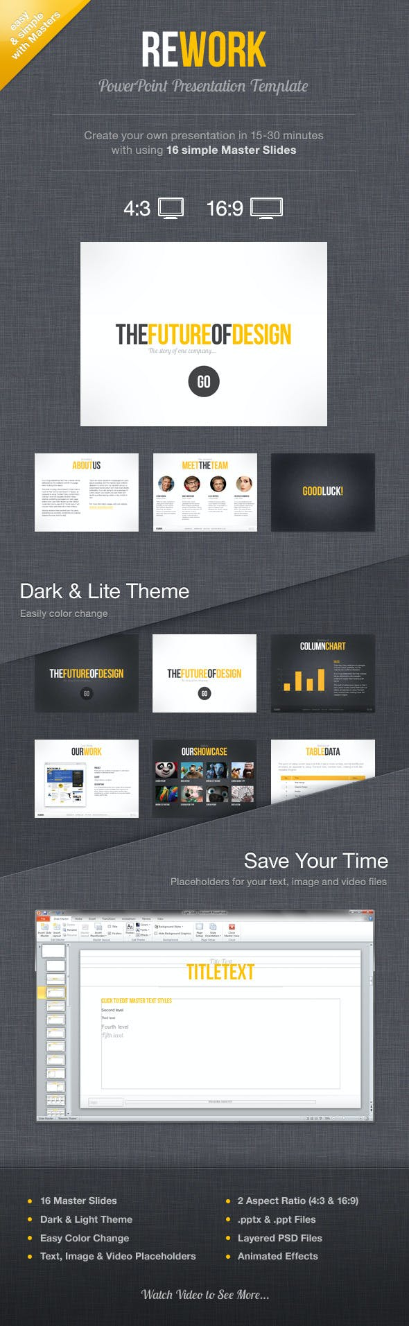 rework powerpoint presentation template by mird graphicriver