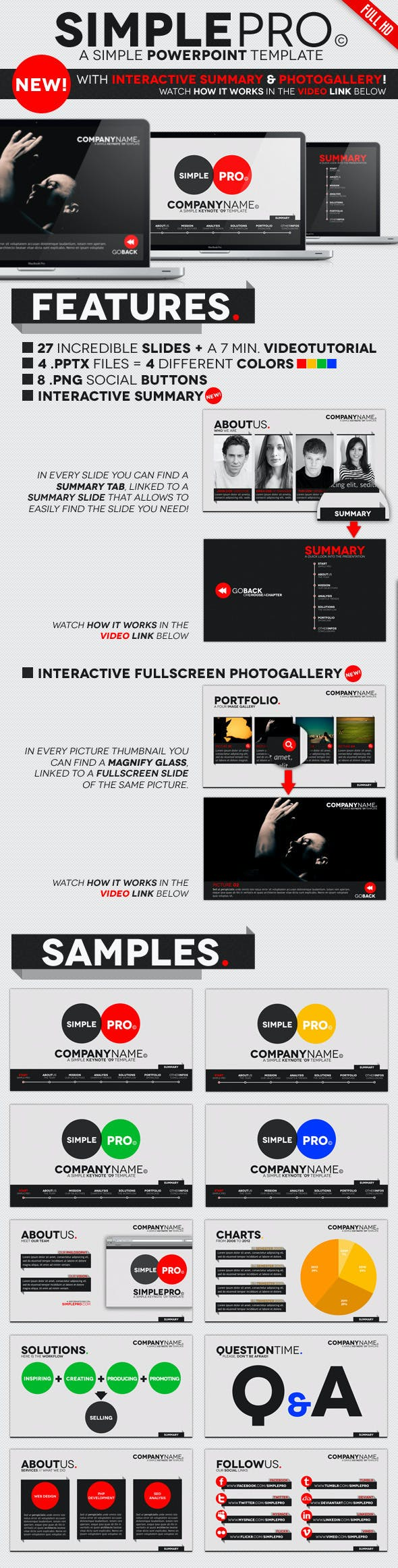 simple pro powerpoint interactive template by opendept graphicriver