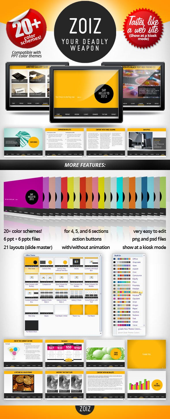 zoiz animated powerpoint template by presentakit graphicriver