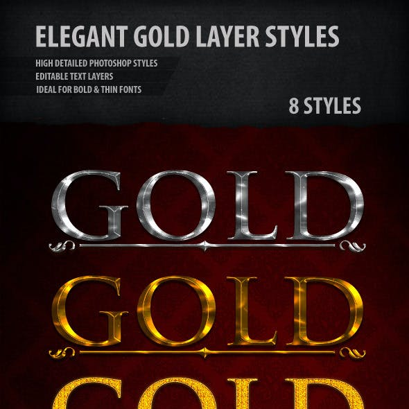 Elegant Gold & Silver Text Styles