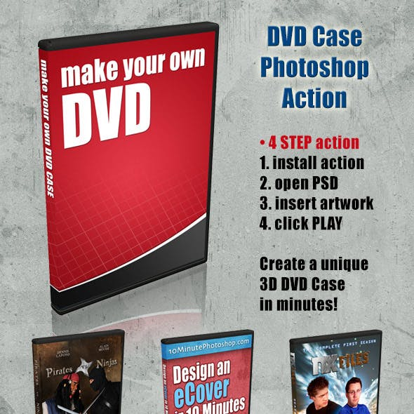 3d dvd case and dvd cover action photoshop actions