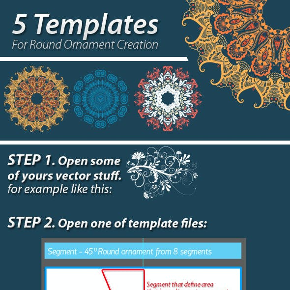 5 templates for round ornament creation by garrykillian graphicriver