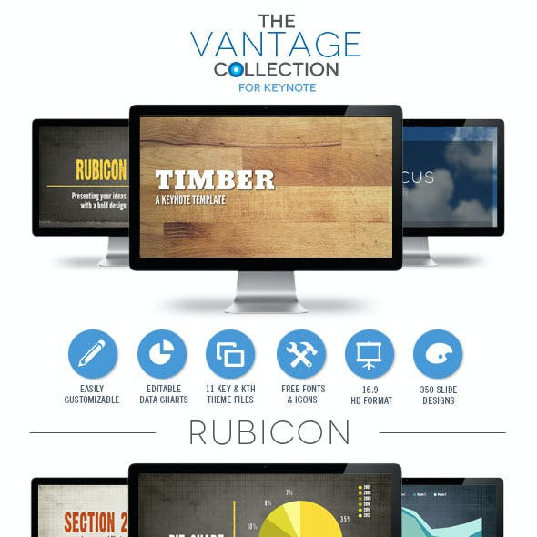 Quick presentation templates from graphicriver vantage collection keynote template bundle toneelgroepblik Image collections