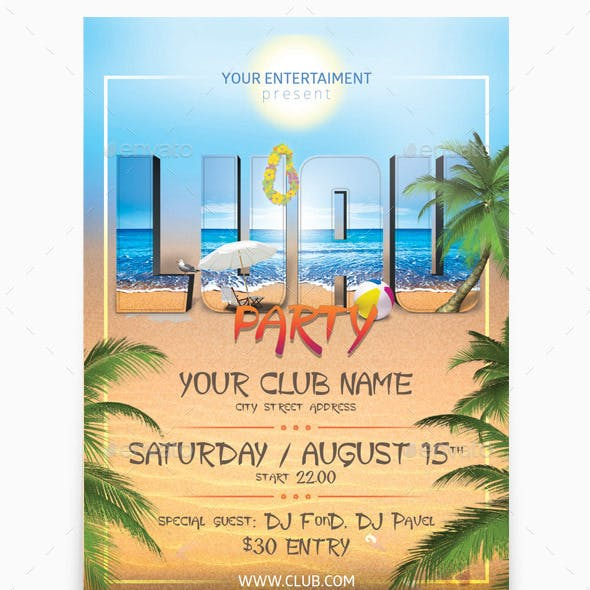 luau summer graphics designs templates from graphicriver