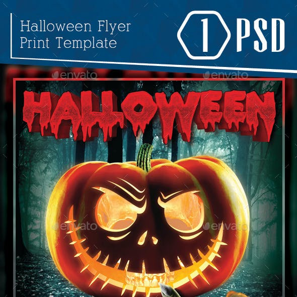 halloween club flyer graphics designs templates