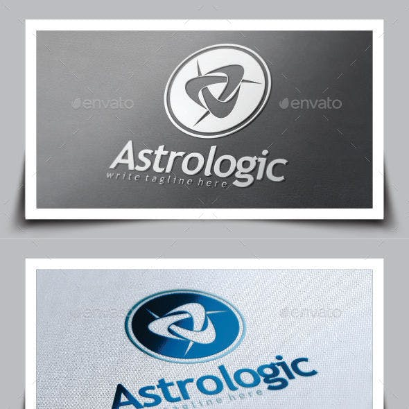 astrological app logo template from graphicriver