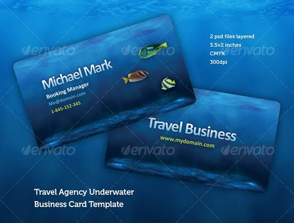 Travel Agency Business Card Design Template Industry Specific Cards