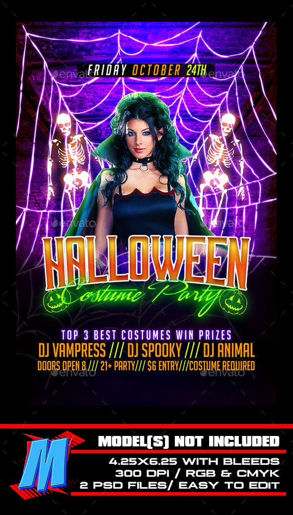halloween costume party flyer template by megakidgfx graphicriver