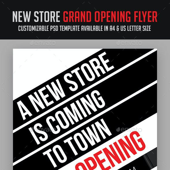 new store grand opening flyer by soulmemoria graphicriver