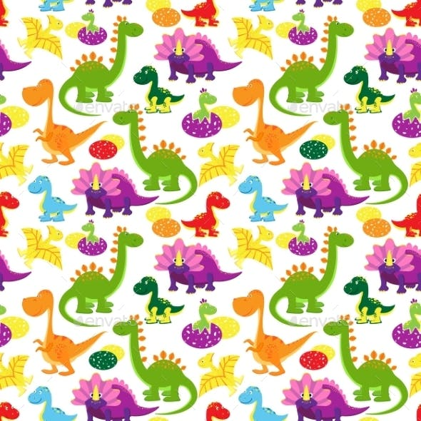 baby dinosaurs pattern by neyro2008 graphicriver