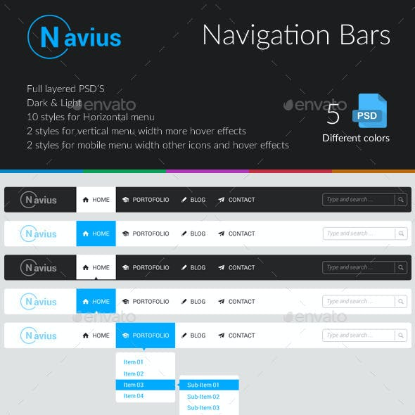ui kit navigation bar template from graphicriver