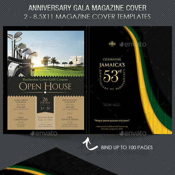 Book and church stationery and design templates page 2 anniversary gala magazine cover template maxwellsz