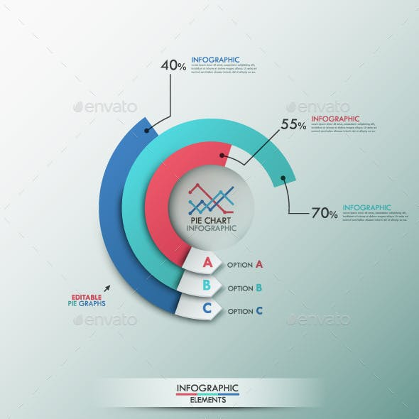 pie chart infographic templates from graphicriver