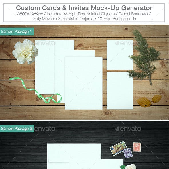 Wedding invitation mock up graphics designs templates cards invites mock up maker kit stopboris Gallery