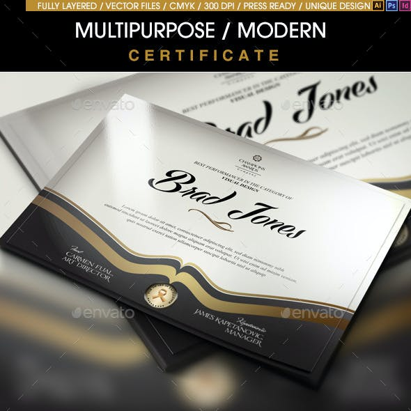 Certificate Templates Designs From Graphicriver Page 37