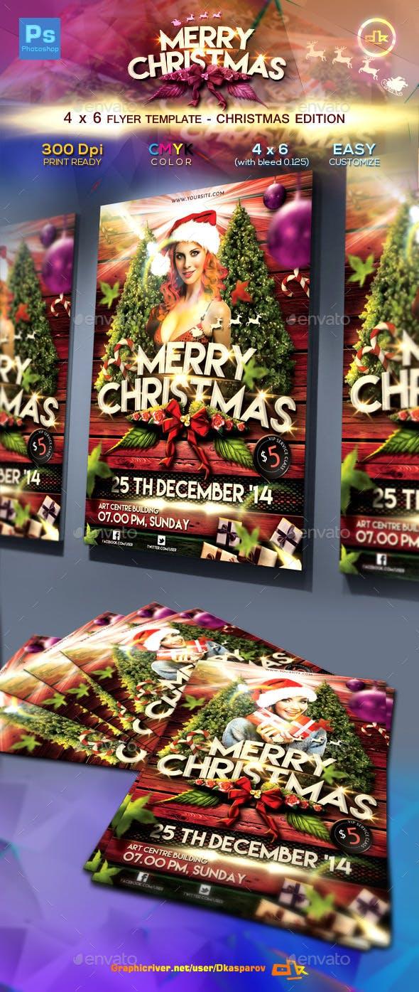 christmas flyer template 4x6 by dkasparov graphicriver