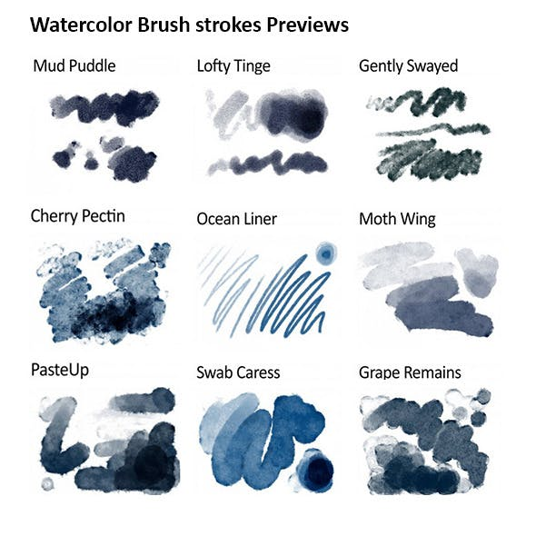 Realistic Responsive Watercolor Brushes by GrutBrushes