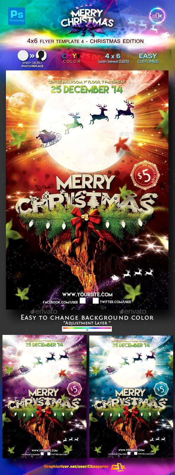 christmas flyer template 4 4x6 by dkasparov graphicriver