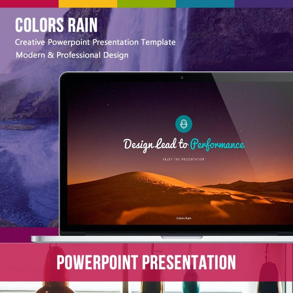 Purple Rain Green PowerPoint Template from GraphicRiver