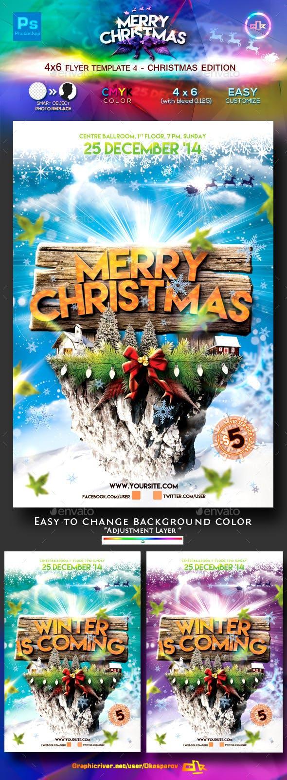 christmas flyer template 5 4x6 by dkasparov graphicriver