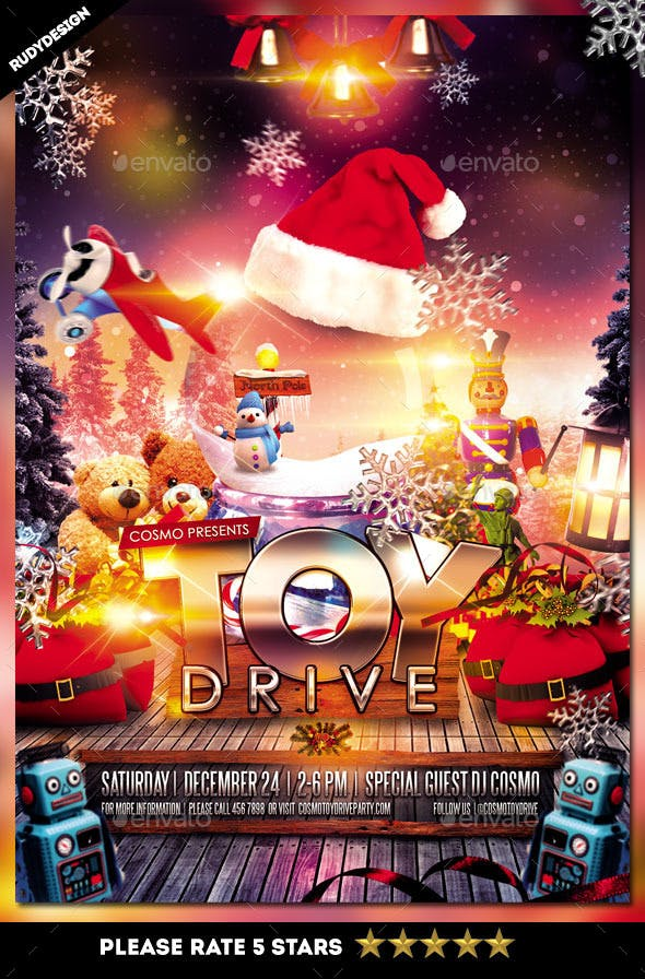 Toy Drive Charity Flyer Template