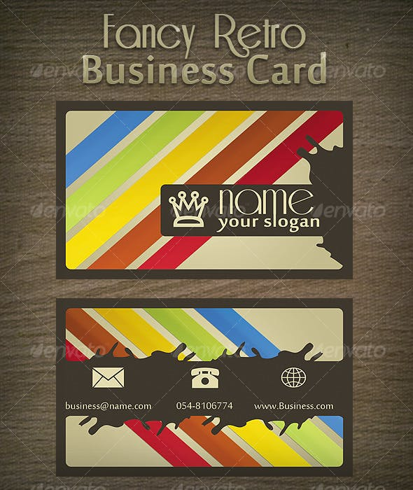 Fancy Retro Business Card By Mosheseldin Graphicriver
