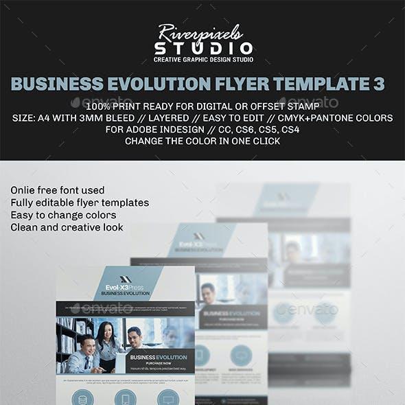 business evolution flyer template iii