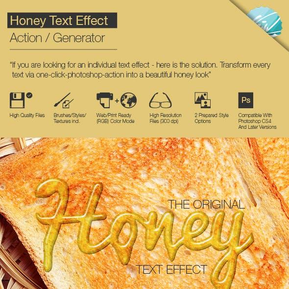 Honey Text Effect / Generator by guentherportfolio