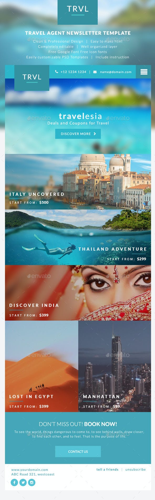 travel agent newsletter templates travelesia by micromove