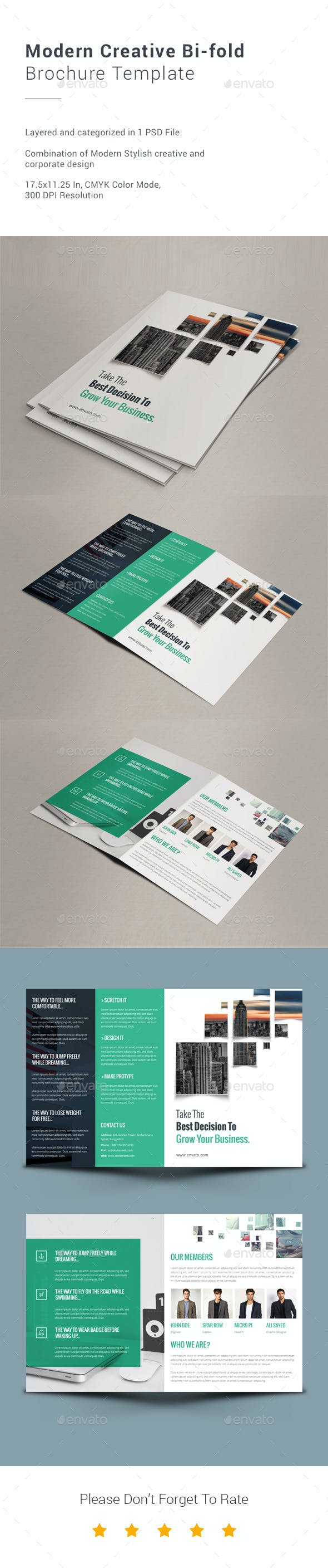 modern creative bi fold brochure template by ali sayed graphicriver