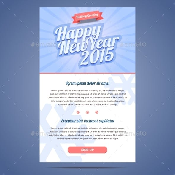Happy New Year Holiday Greeting Email Template By Zanimanski
