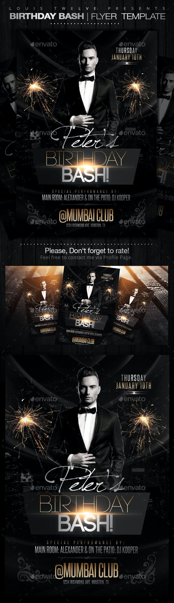 birthday bash flyer template by louistwelve design graphicriver