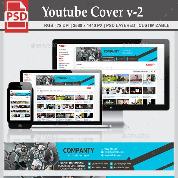 Youtube Cover v-2 by designway4u | GraphicRiver