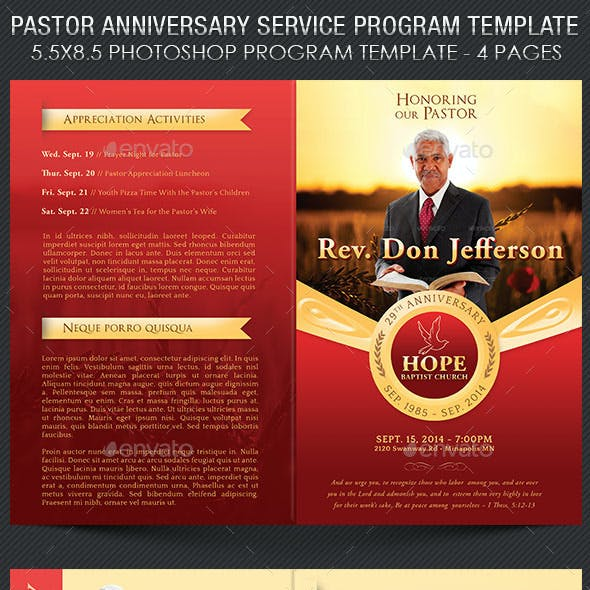 Anniversary Program Graphics, Designs & Templates
