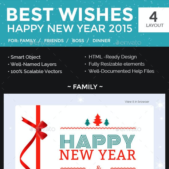 new year newsletter psd template