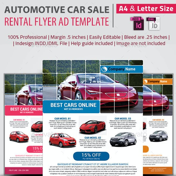 rent a car flyer graphics designs templates from graphicriver