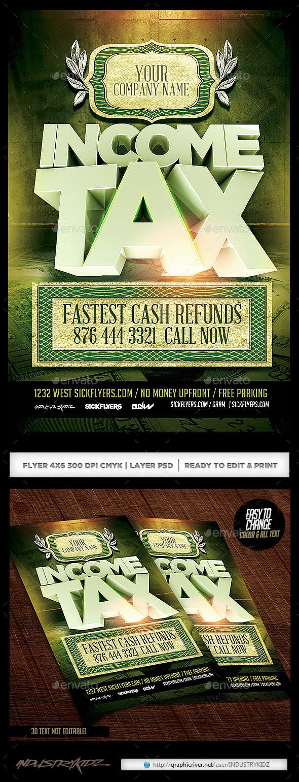 Income Tax Flyer Template V2