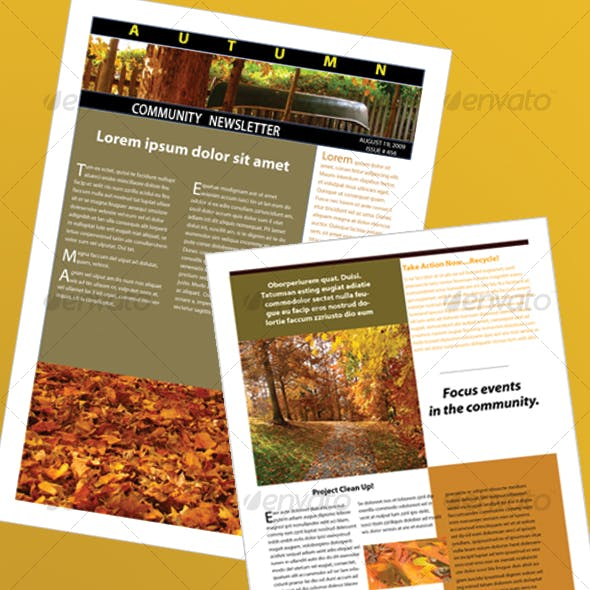 Indesign simple newsletter templates from graphicriver the autumn newsletter maxwellsz